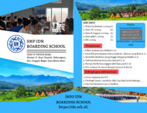 idn boarding school jobs